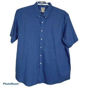 L.L. Bean Short Sleeve WindowpanePlaid Shirt